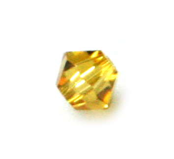 4mm bicone bead, lime