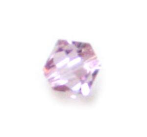 4mm Bicone Xilion bead light amethyst (uxtl) (5328/212),