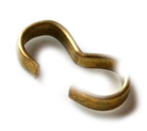 Bronze double thread crimp, size 13x6mm-0