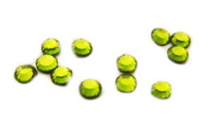 SS6 Swarovski olivine crystal hot fix, 1.9-2.0mm diameter