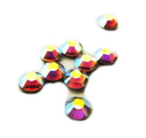 SS8 Swarovski Crystal hot fix AB, 2.3-2.4 mm diameter