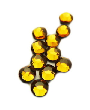 SS10 Swarovski Crystal topaz hot fix , 2.7-2.8 mm diameter