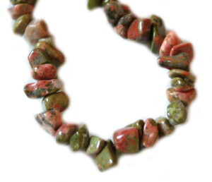 Unakite chip string 79cm long-0