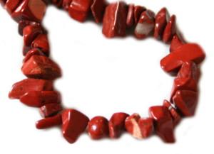 Red Jasper chip string in 80