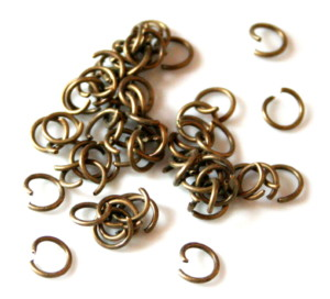 50 x Jump ring, bronze color, 7mm -0