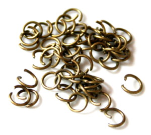 Jumpring in bronze, size 7mm, 50 pieces-0