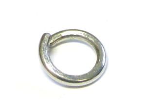 Jumpring 1.5mm thick, silver, 14mm OD