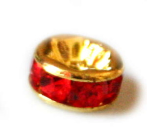 6x Roundel with red in gold.-0