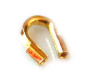 Cable thimble gold colour. 4.5mm -0