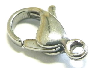 6 x Silver colour lobster clasp. 12mm. Nickel and lead free.