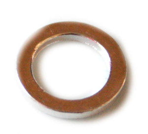 12 x 1.4x1.8mm Silver coloured flat ring. Nickel and lead free. -0
