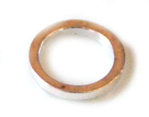 20x Silver coloured flat ring. 8x1x1mm Nickel and lead free.-0