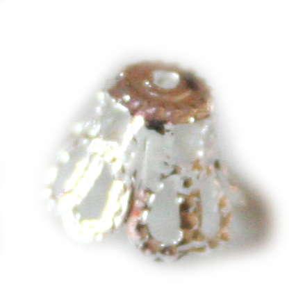 50 x Lamp shade bead cap, 6mm, nickel free