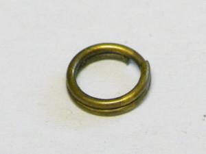 50 x split ring, bronze color, 7mm OD