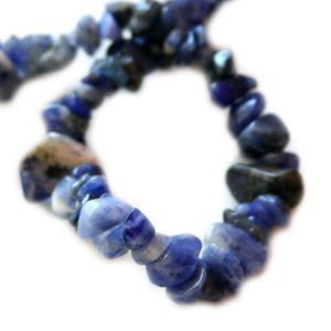 Sodalite chip string, 80 cm long