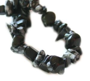 Snowflake Obsidian Chip String 80 cm long