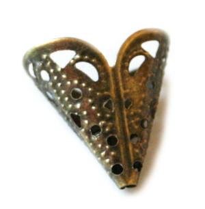 10x Bronze color bead cone 18mm-0