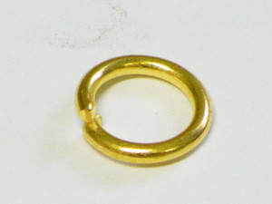 50 x Jumpring in Gold Metal 7 OD x 1mm thickness