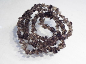Smoky quartz chip string, 80 cm long-0