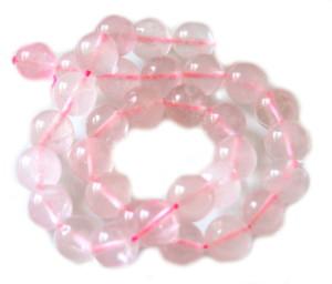 12mm round Rose Quartz string, 38cm long