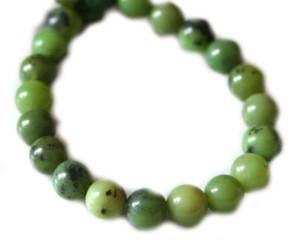 AAA grade Nephrite bead string. 40cm. 6mm bead size.-0