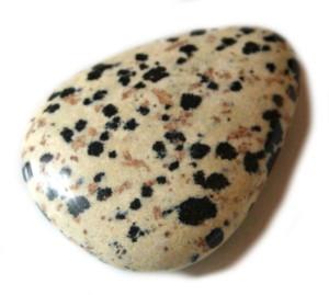 Flat dalmatian stone tumble. 30-40mm-0