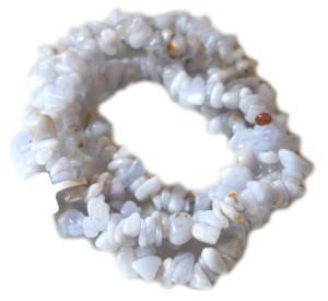 Blue lace agate chip string,79cm long-0