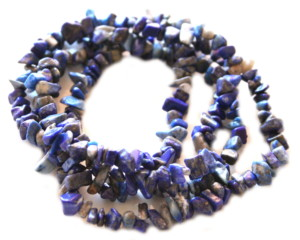 Lapis lazuli chip string, 80cm