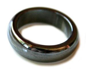 Hematite ring 6mm, 19 - 20mm inside diameter