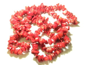 Red Coral Chip string 80cm