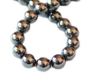 Hematite bead string 6mm, 38cm