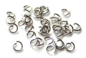 20 x Jumpring in stainless steel 7x1mm