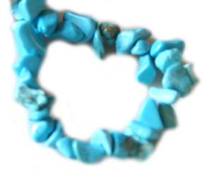 Blue howlite chip string, 80cm