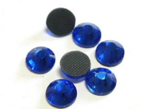144 hotfix rhinestones, ss34, dark blue 7mm