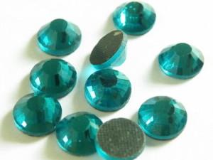 144 hotfix rhinestones, ss34, teal 7.3mm-0