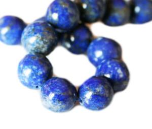 Lapis lazuli bead string, round, 8mm, 38cm