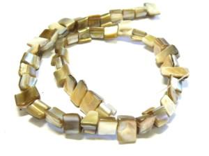 Shell string cubes tan 38cm long.