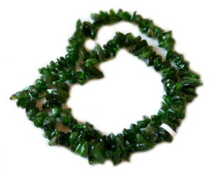 Russian diopside chip string, 40cm -0