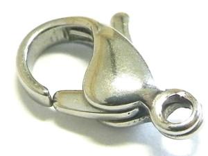 Silver lobster clasp, 12mm Nickel Silver