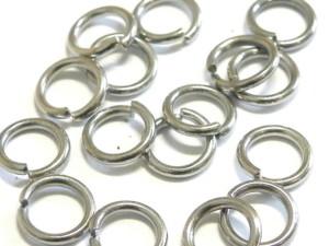 10x Jumpring in silver color, 6mm Nickel Metal