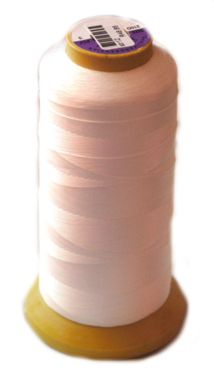 Nylon thread for pearl stringing, size 3, white