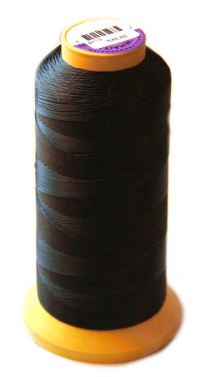 Nylon thread for pearl stringing, size 3, black
