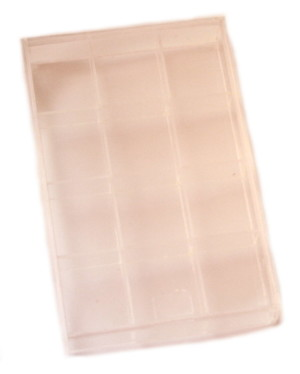 Clear Perspex Bead Jewellery Display Case-12 Compartments