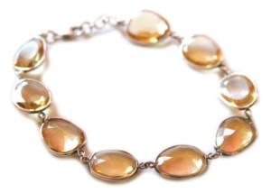 Gem quality citrine in 92.5 silver bracelet