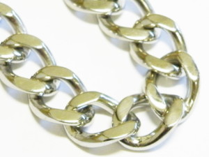 92.5 Silver link chain 4x17mm-0