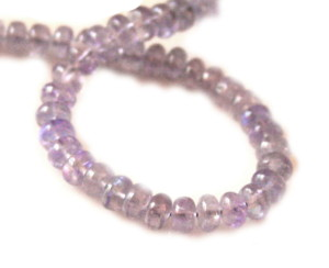121.2ct Gem quality Tanzanite 4.8mm roundel bead string