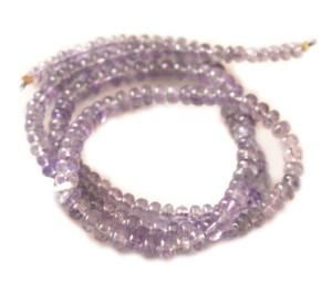 120ct Gem quality Tanzanite 5mm roundel bead string