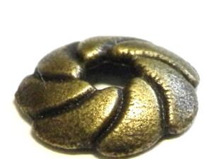 4 x Bead caps vortex design, bronze color, 10mm