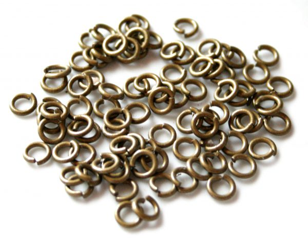 100x bronz jumprings 6x1.3mm thick-0