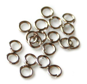 20x Jumprings, silver color, 4mm, 1mm thick-0